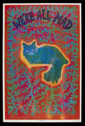 'Cheshire cat', psychedelic poster by Joseph McHugh, published by East Totem West. USA, 1967 (c) Victoria and Albert Museum, London