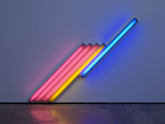 Dan Flavin, untitled (for Frederika and Ian) 3, 1987 © 2019 Stephen Flavin _ Artists Rights Society (ARS), New York Courtesy David Zwirner