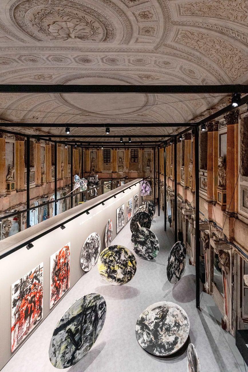 Emilio Vedova. Installation view at Palazzo Reale, Milano 2019. Photo Marco Cappelletti