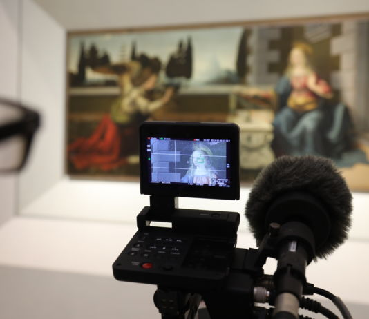 Filming EOS Leonardo The Works © EXHIBITION ON SCREEN