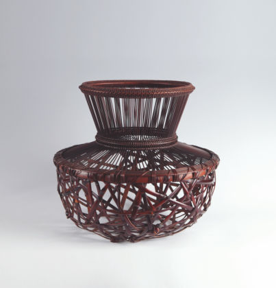 Flower Basket Named 'Morning Light' by Iizuka Shokansai (ca 1980), by Thomsen Gallery, New York