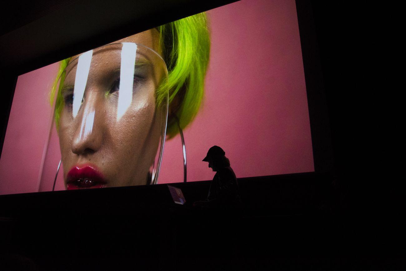 Fotonica Festival, Roma 2019. VJ Emiko Humantic Sequences