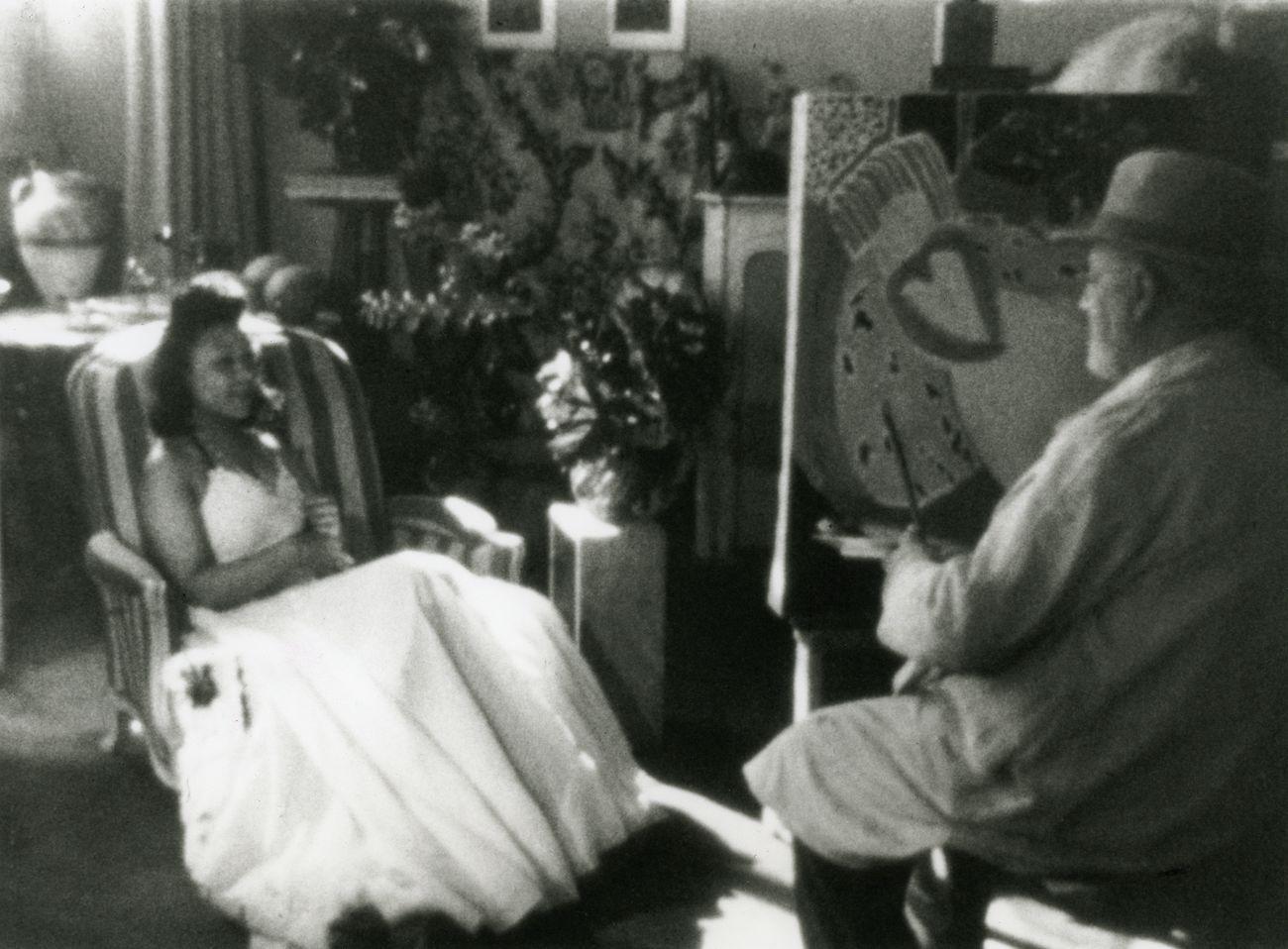 François Campaux, Henri Matisse, 1946, film still. Courtey M. Cavaglione Valio. Photogramma Ville de Nice