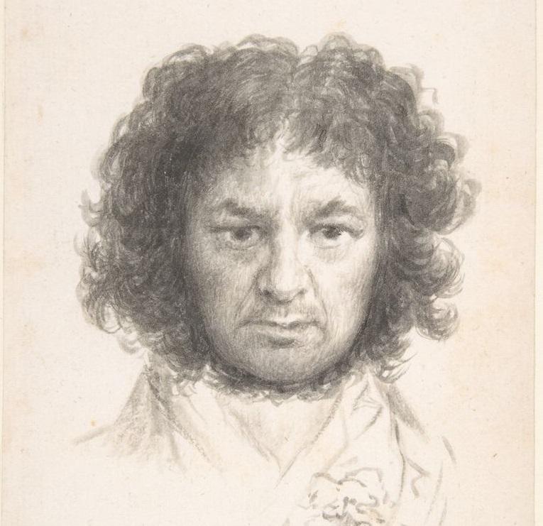 Francisco de Goya, Autorretrato, 1796. New York, The Metropolitan Museum of Art (dettaglio)