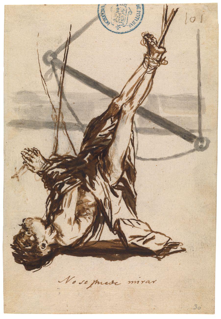 Francisco de Goya, No se puede mirar, Cuaderno C, hoja 101, 1808 14. Madrid, Museo Nacional del Prado