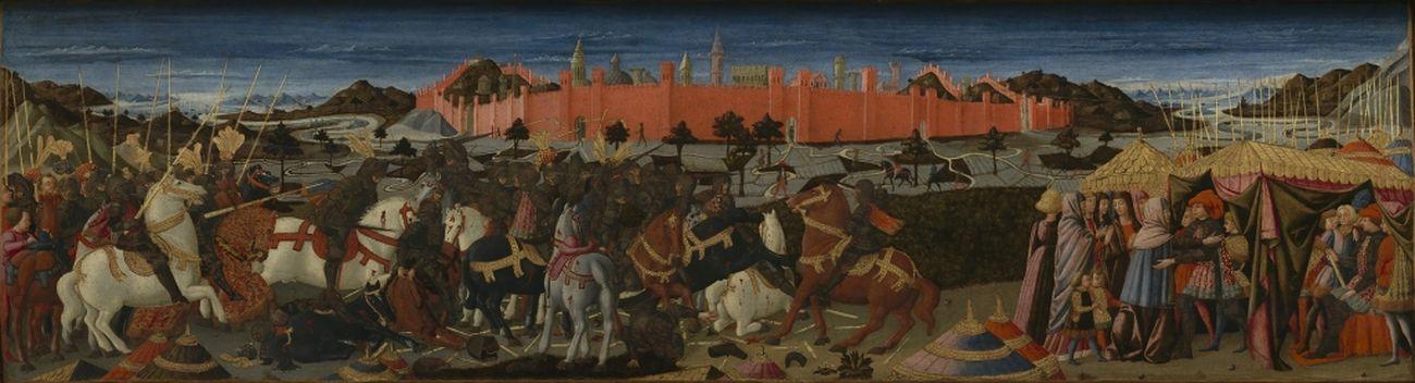 Giovanni di ser Giovanni Guidi detto Lo Scheggia, Storia di Coriolano (fronte di un cassone), 1460 65 ca.