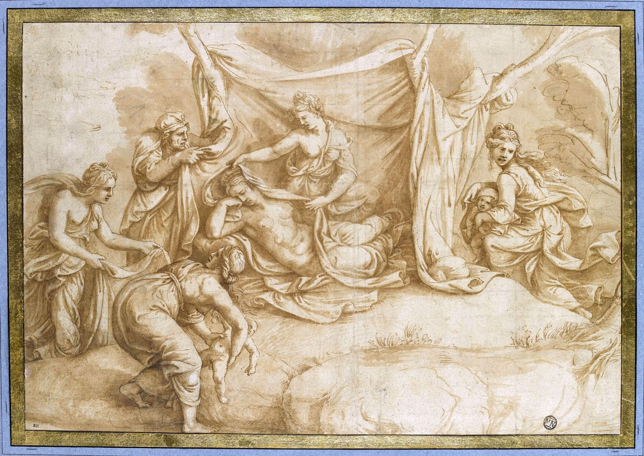 Giulio Romano, Nascita di Apollo e Diana. Parigi, Musée du Louvre