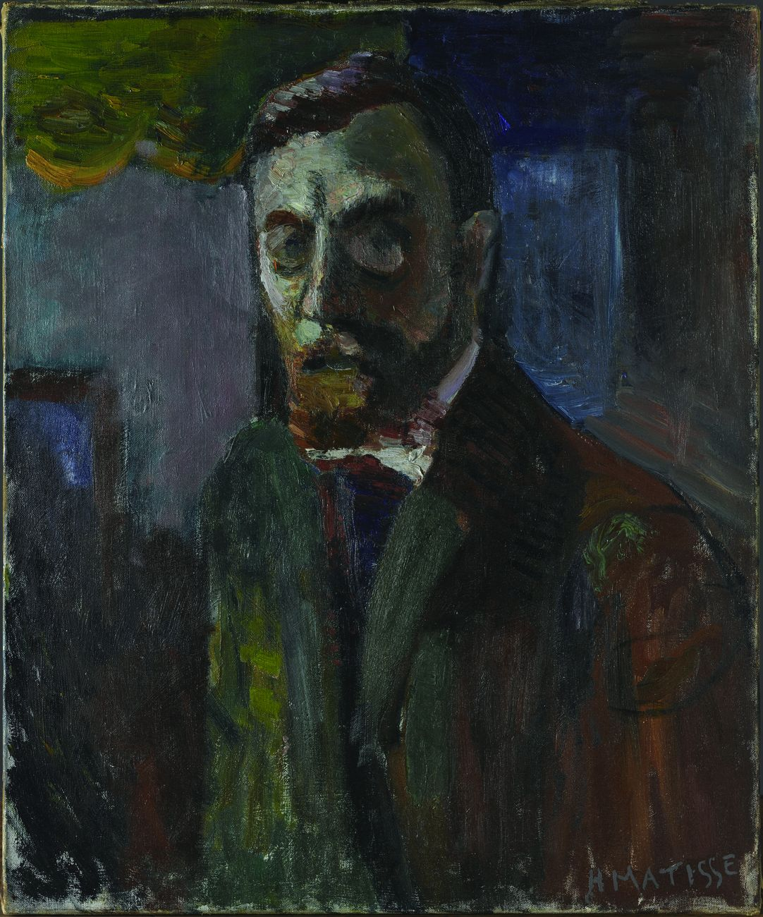 Henri Matisse, Autoportrait, 1900. Centre Pompidou, Musée national d'art moderne Centre de création industrielle © Photo RMN © Succession H. Matisse