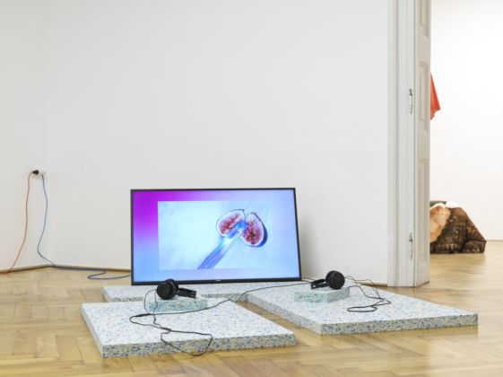 Hyperemployment. Installation view at MGLC International Centre of Graphic Arts, Lubiana 2019. Elisa Papa Giardina Photo Jaka Babnik Archive MGLC Aksioma
