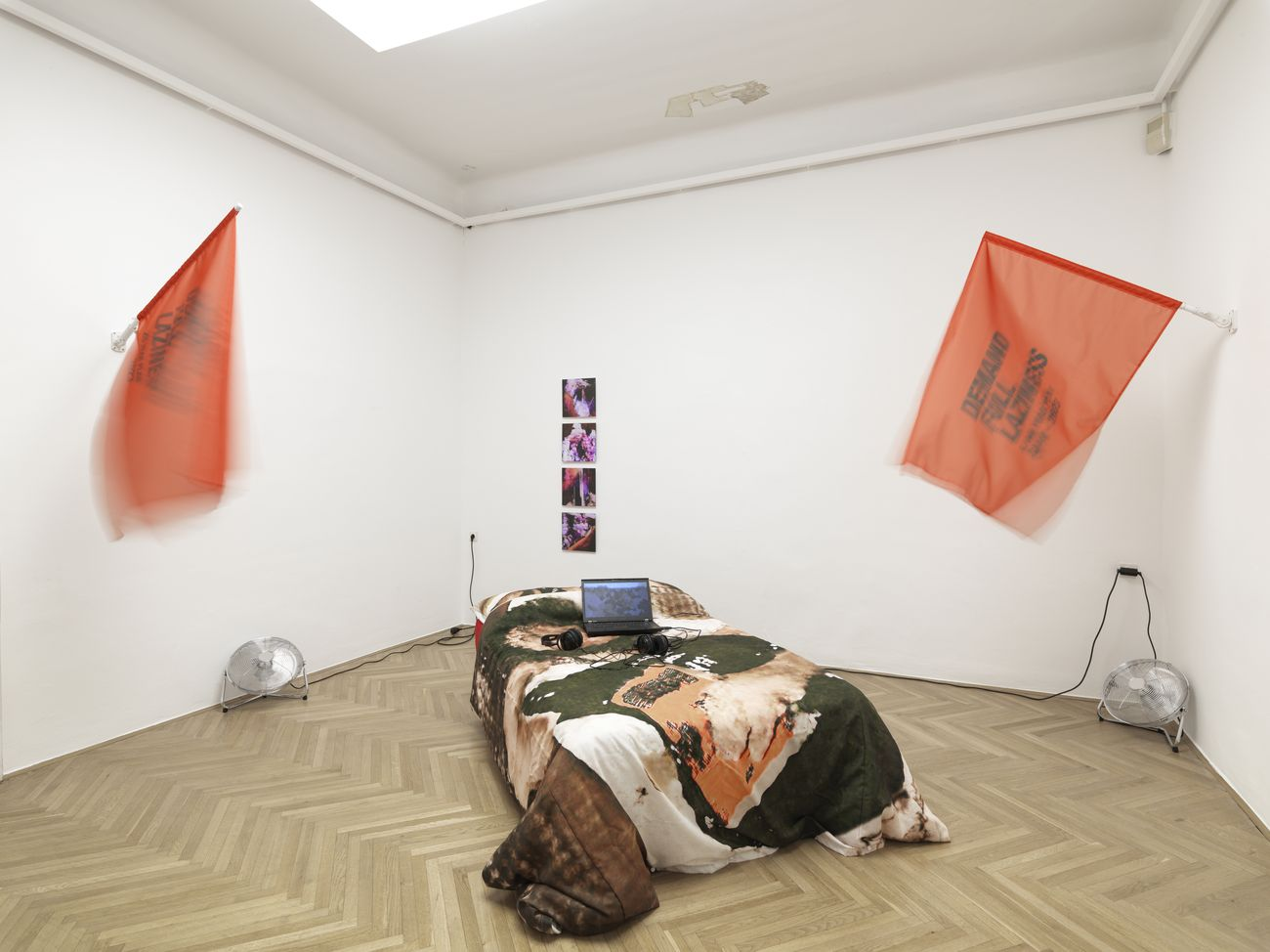 Hyperemployment. Installation view at MGLC International Centre of Graphic Arts, Lubiana 2019. Guido Segni Photo Jaka Babnik Archive MGLC Aksioma