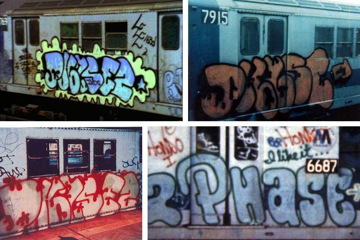 Il Bubble Writing di Phase 2, sui treni di New York, negli anni '70