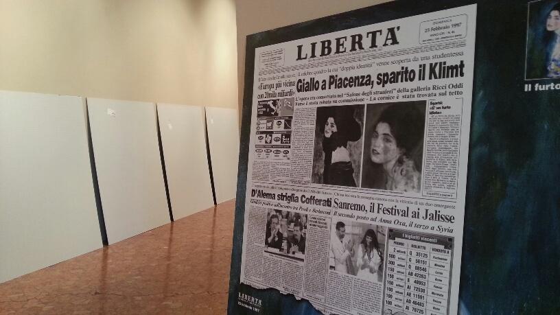 Il caso sulla prima pagina del quotidiano piacentino Libertà
