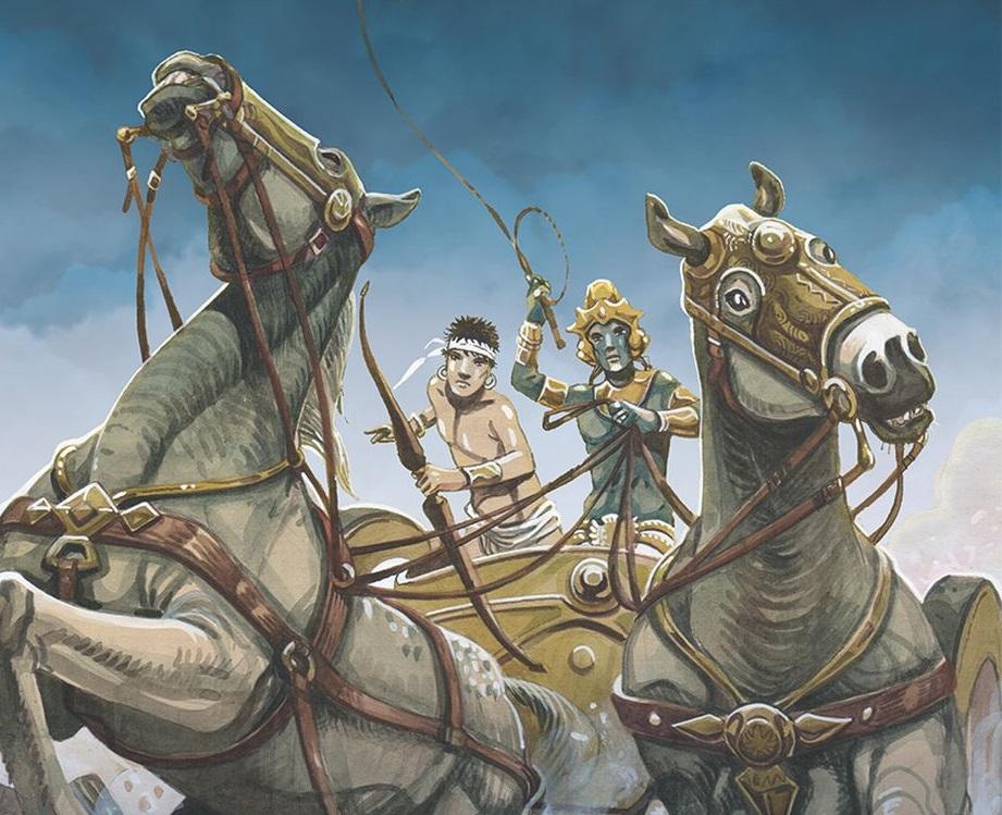 Jean Claude Carrière & Jean Marie Michaud – Il Mahabharata (L'Ippocampo, Milano 2019) _Copertina (dettaglio)