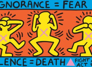 Keith Haring, Ignorance = Fear, 1989 © Keith Haring Foundation Collection Noirmontartproduction, Paris