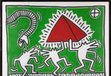 Keith Haring, Untitled (Egypt), 1982. Milano, Collezione Consolandi. Photo © Roberto Marossi