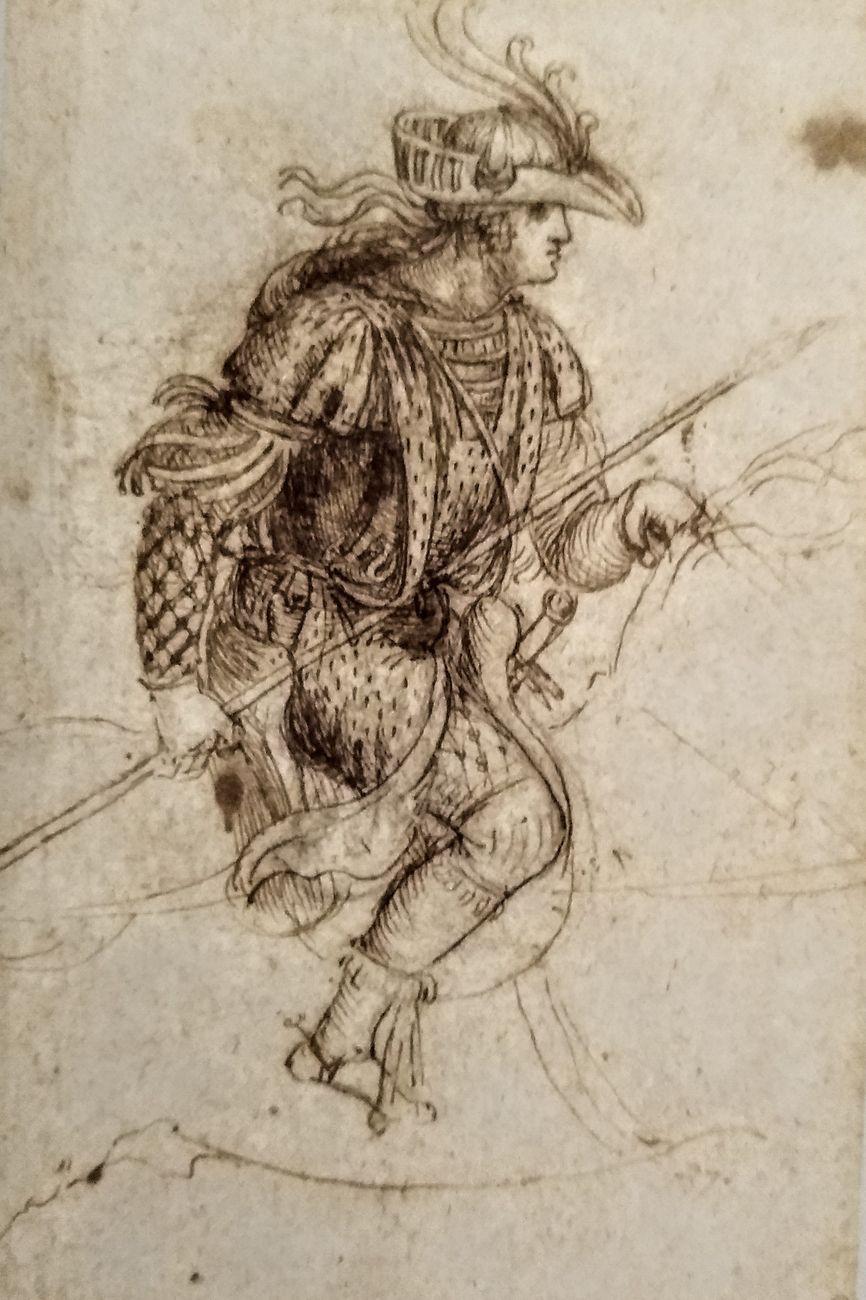 Leonardo da Vinci, Costume per un corteo. The Royal Collection, HM Queen Elizabeth II, Windsor