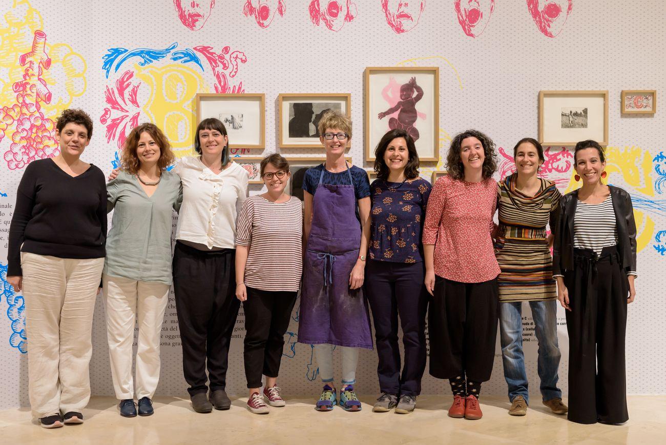Lo staff del Laboratorio d'arte di Palazzo delle Esposizioni