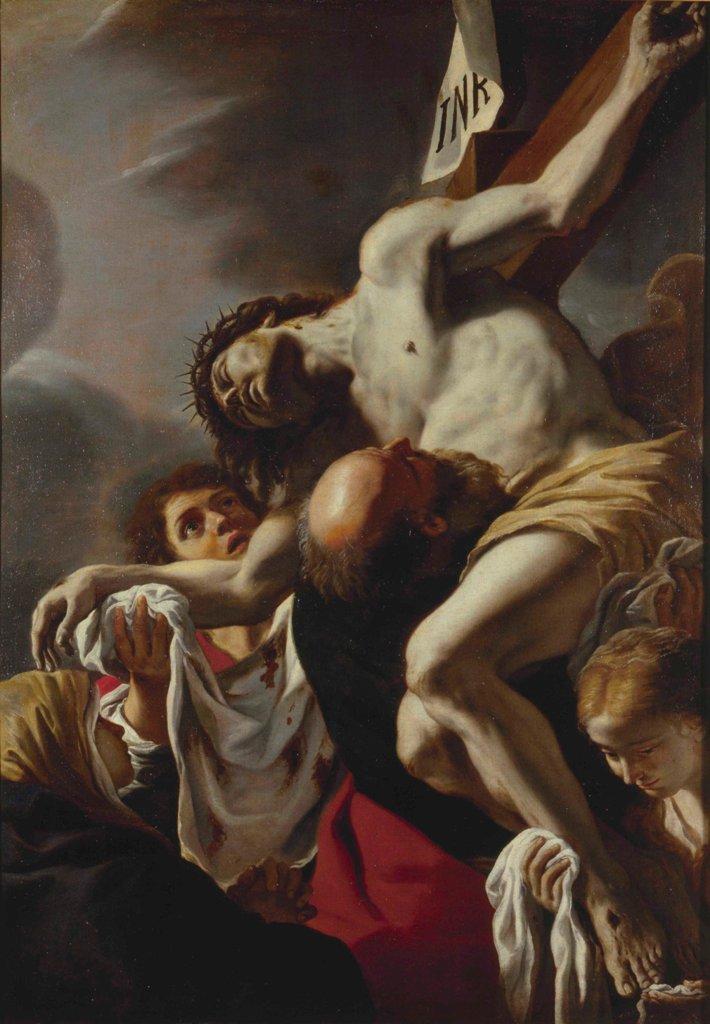 Mattia Preti, Deposizione di Cristo dalla croce, , Ottavo decennio del XVII secolo . Collezione Fondazione De Vito
