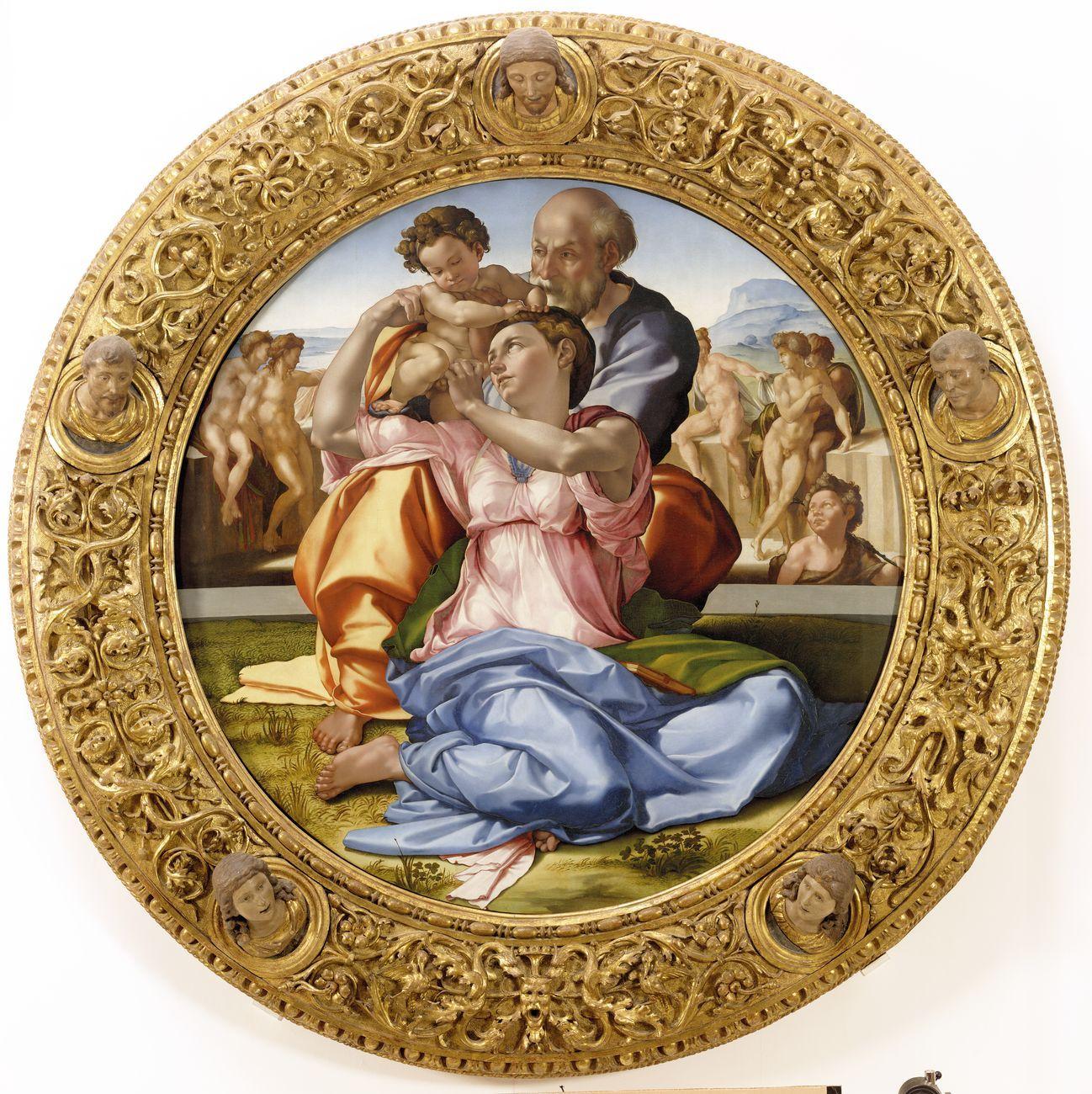 Michelangelo Buonarroti, Sacra Famiglia (Tondo Doni), 1507, Firenze, Galleria degli Uffizi
