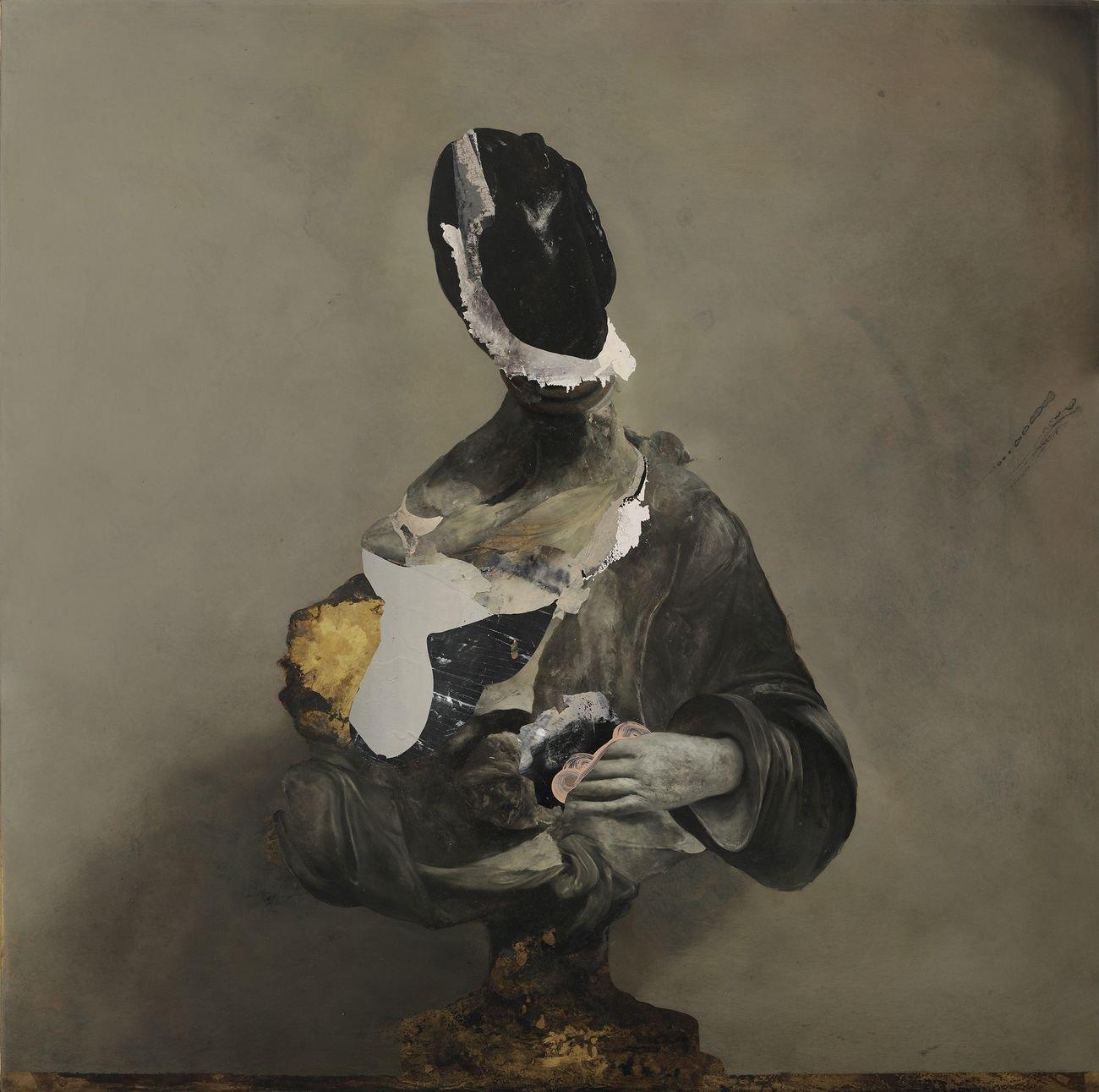Nicola Samorì, Pentesilea, 2018, olio su ottone. Courtesy EIGEN+ART, Berlino Lipsia