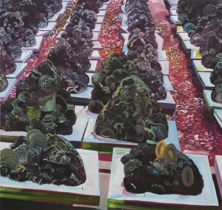 Marjolijn De Wit, Artificial reef, 2009, oil in canvas,190 x 200 cm. Courtesy Otto Zoo and the artist