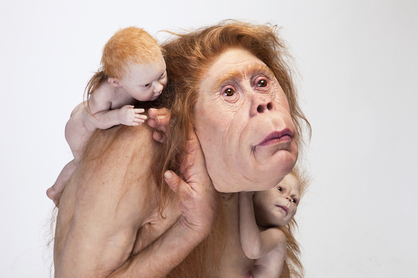 Patricia Piccinini Kindred, 2018 silicone, fibreglass, hair 103 x 95 x 128cm Image Courtesy the artist, Tolarno Galleries, Melbourne and Roslyn Oxley 9 Gallery, Sydney