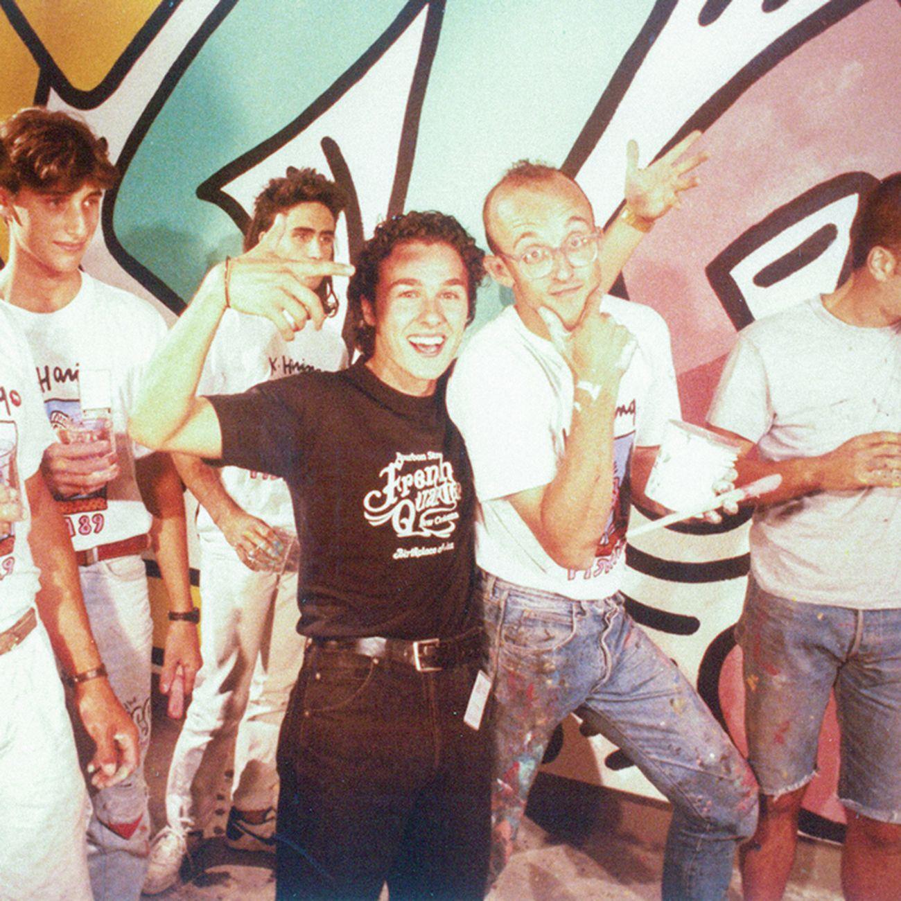 Piergiorgio Castellani e Keith Haring a Pisa nel 1989