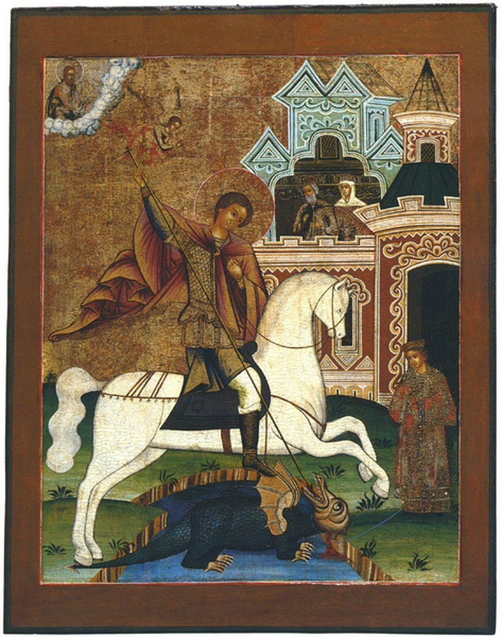 San Giorgio e il drago, Russia settentrionale, secondo quarto metà del XIX sec. Collezione Intesa Sanpaolo