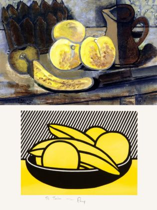 Sopra, George Braque _ sotto, Roy Lichtenstein