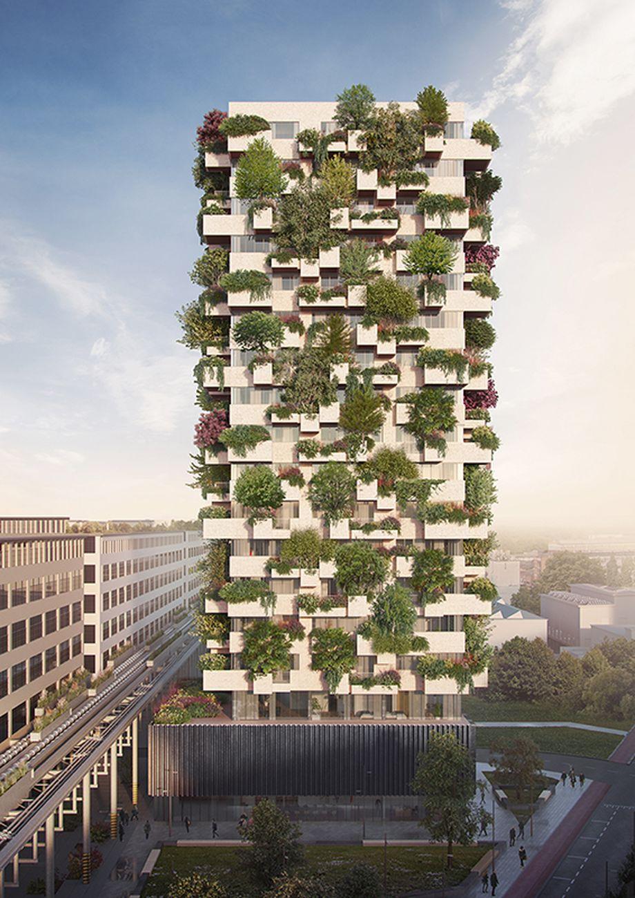 Stefano Boeri Architetti, Eindhoven Trudo Vertical Forest. Courtesy SBA Stefano Boeri Architetti