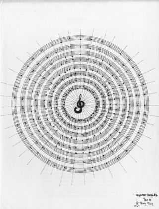 Terry Riley – Dream Music _ Keyboard Study #2 (1967), partition, Aspen n°9, The Psychedelic Issue, Ed. par Angus MacLise & Hetty MacLise, New York, Roaring Fork Press,1971