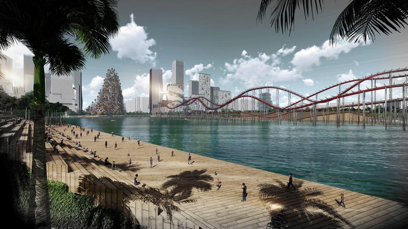 UABB ‒ Urbanism and Architecture Bi City Biennale of Hong Kong and Shenzhen 2019. Rootboot Project. Xiangmihu CBD – Vicente Guallart