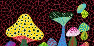 Yayoi Kusama, Mushrooms, 2005. Courtesy of Mucciaccia Gallery