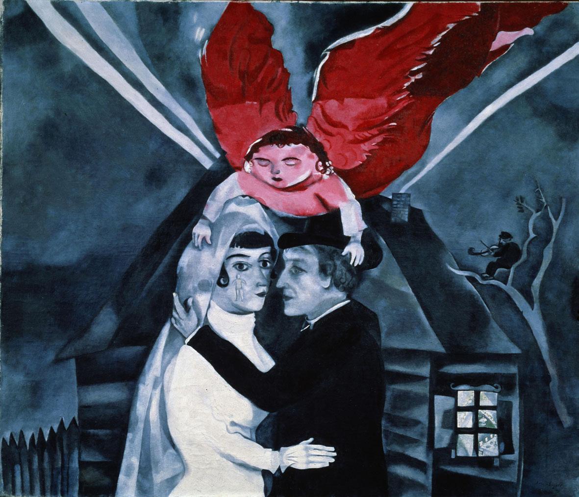 Marc Chagall, Il Matrimonio, 1918, Mosca, Tretyakov Gallery © Chagall ®, by SIAE 2019