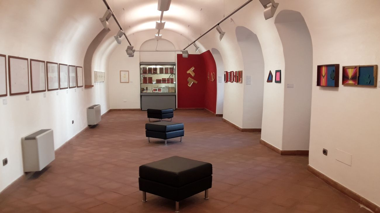 Aldo Contini. Le alchimie della ragione 1959 2009. Exhibition view at Pinacoteca Carlo Contini, Oristano 2019.