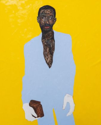 Amoako Boafo, Hudson in a baby blue suit, 2019. Photo credit Rubell Museum