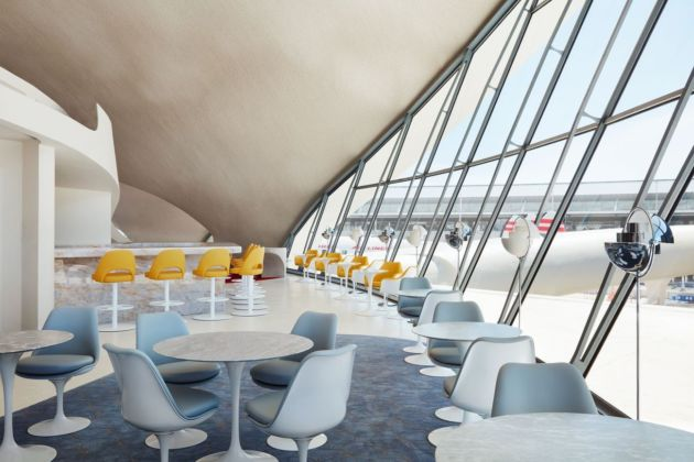 Bon appétit! The Paris Café by Jean Georges serves breakfast, lunch and dinner — as well as amazing views. Photo credits TWA Hotel – David Mitchell
