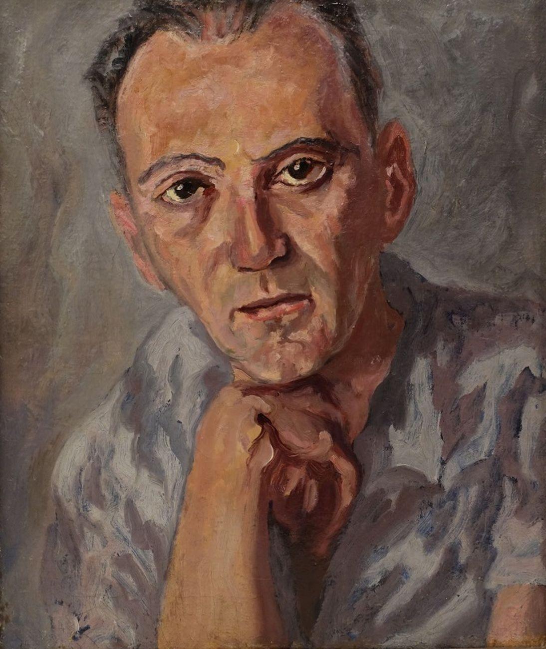 Carlo Levi, Ritratto di Bobi Bazlen, 1941, olio su tela, 46 x38 cm. Roma, Fondazione Carlo Levi