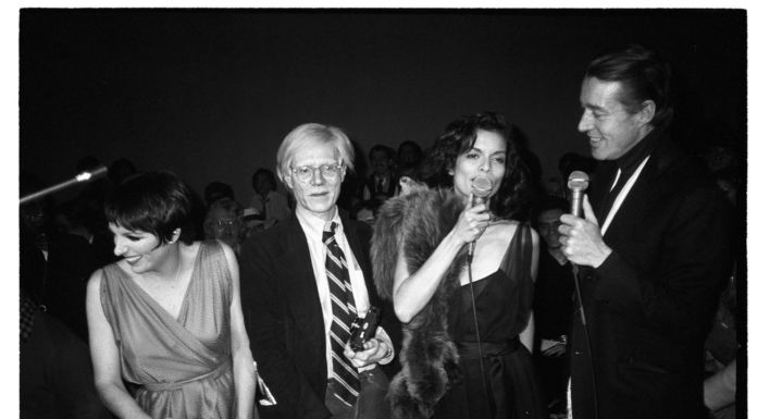 Christopher Makos, The Gang of Four at Studio 54 (Liza Minnelli, Andy Warhol, Bianca Jagger, and Halston), 1978