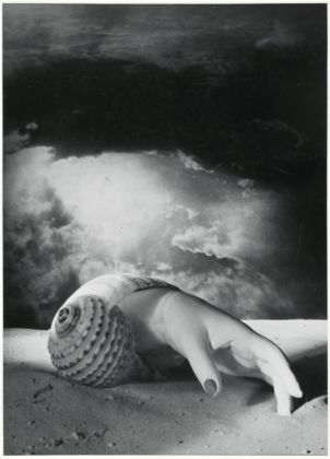 Dora Maar, Untitled (Hand-Shell) 1934. Centre Pompidou, Musée national d'art moderne, Paris. Photo © Centre Pompidou, MNAM-CCI, Dist. RMN-Grand Palais / image Centre Pompidou, MNAM-CCI © ADAGP, Paris and DACS, London 2019