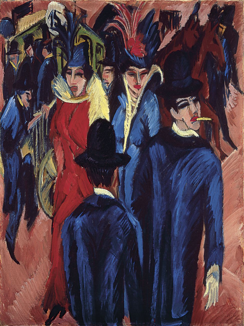 Ernst Ludwig Kirchner, Berlin Street Scene, 1913 14. Neue Galerie, New York & Private Collection