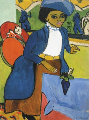 Ernst Ludwig Kirchner, Portrait of a Woman, 1911. Albright Knox Art Gallery, Buffalo