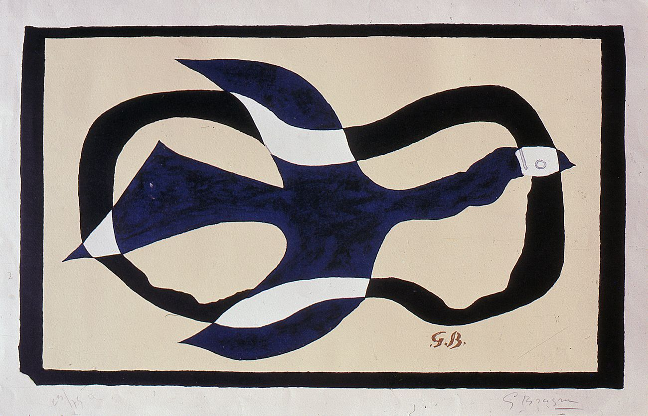 Georges Braque, Oiseau traversant un nuage, 1957, litografia a colori. Musei Vaticani, Collezione d'Arte Contemporanea. Photo © Governatorato SCV, Direzione dei Musei e dei Beni Culturali
