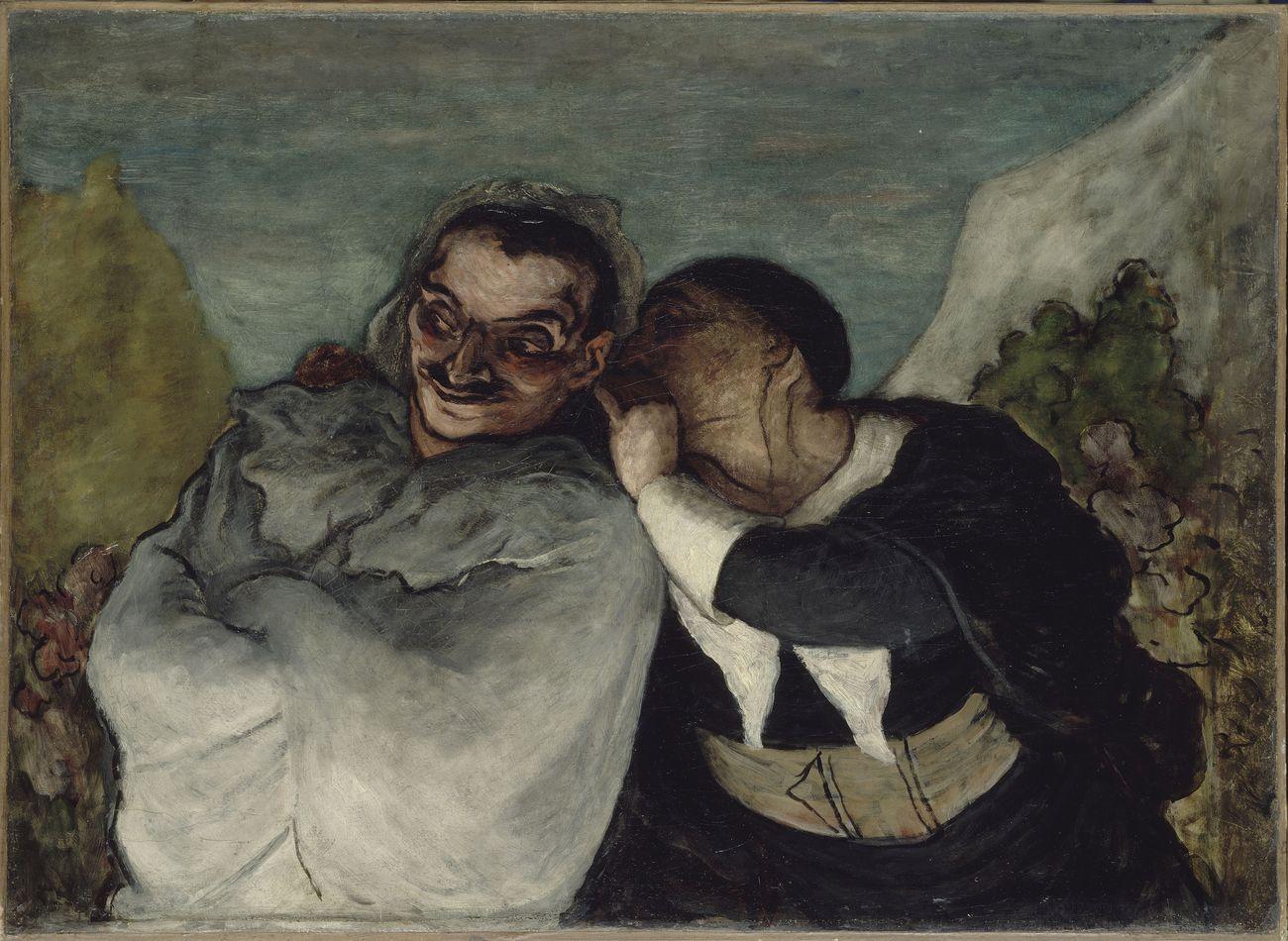 Honoré Daumier, Crispin et Scapin, 1864 ca.