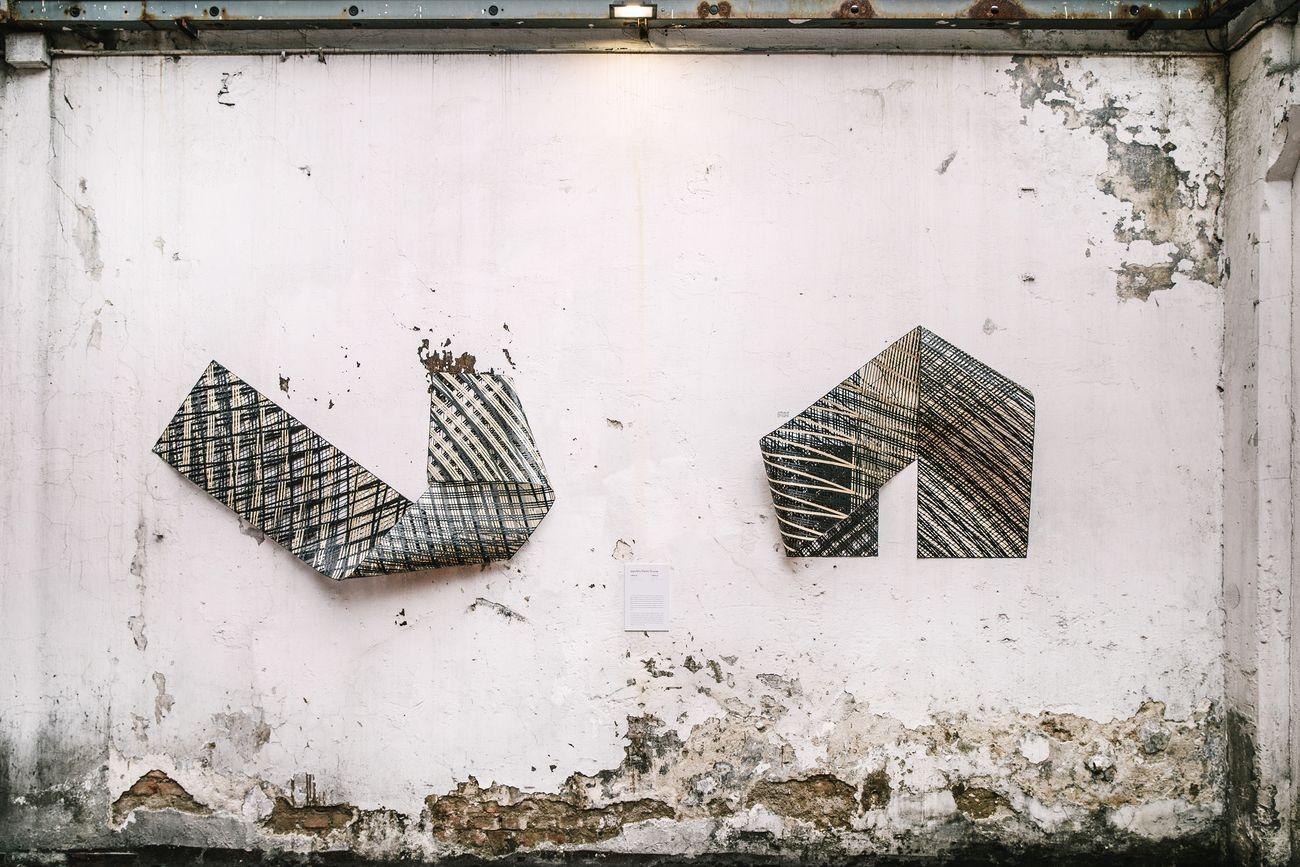 Ippolito Fleitz Group, I mesh 3D, 2018, I mesh technora + Carbon Fibres, 50x270 cm