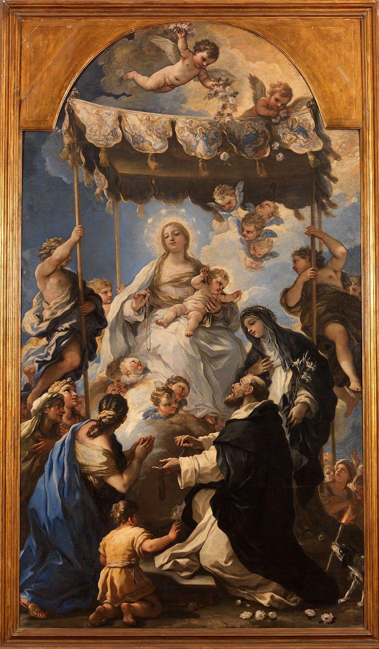Luca Giordano, Madonna del Rosario al baldacchino, 1680. Napoli, Museo e Real Bosco di Capodimonte © Photo Ministero per i beni e le attivita culturali