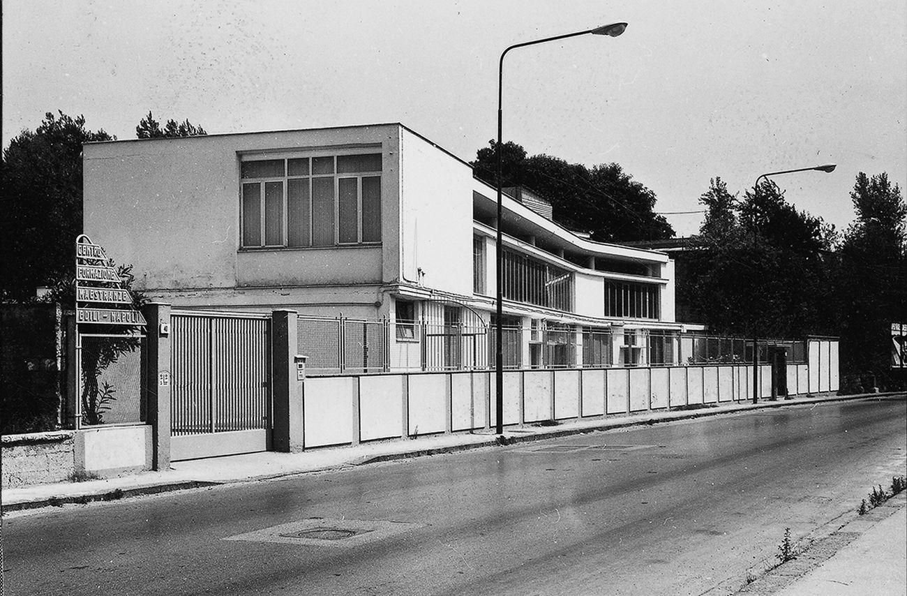 Luigi Cosenza, Centro di formazione per lavoratori edili, Napoli, 1953 54. Archivio Luigi Cosenza Archivio di Stato, Pizzofalcone, Napoli