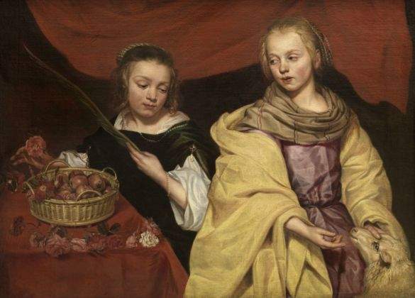Michaelina Wautier, Ritratto di due fanciulle come Sant'Agnese e Santa Dorotea, 1655 ca. Royal Museum of Fine Arts Antwerp (KMSKA) © Royal Museum of Fine Arts Antwerp www.lukasweb.be – Art in Flanders, photo Hugo Maertens