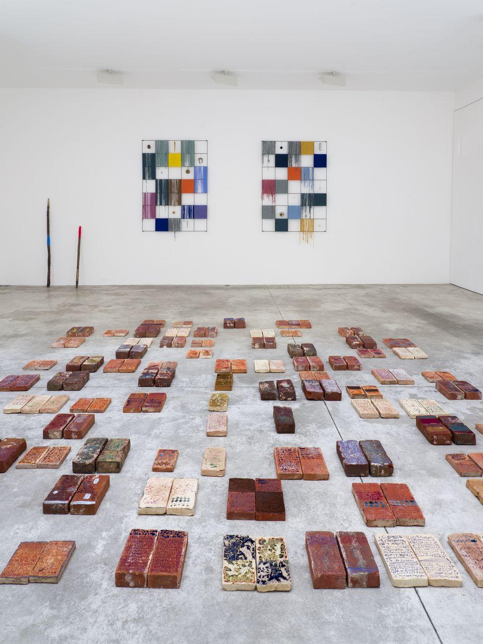Michele Ciacciofera, The Library of encoded time, 2019. Installation view at Michel Rein, Paris Bruxelles. Photo Florian Kleinefenn. Courtesy Michel Rein, Paris