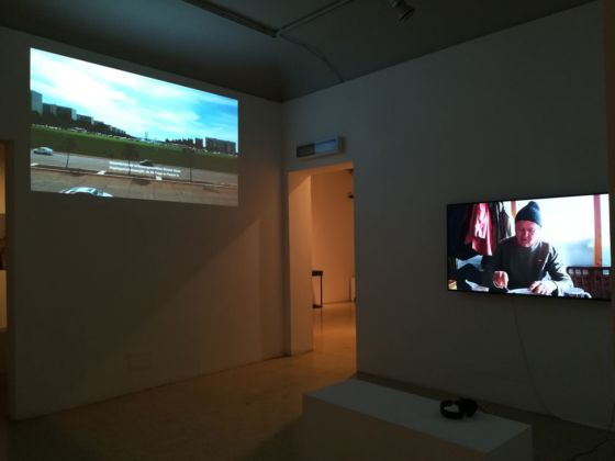 Palindromi. Installation view at Palazzo Ziinio, Palermo 2020. Y. Lee, Fell